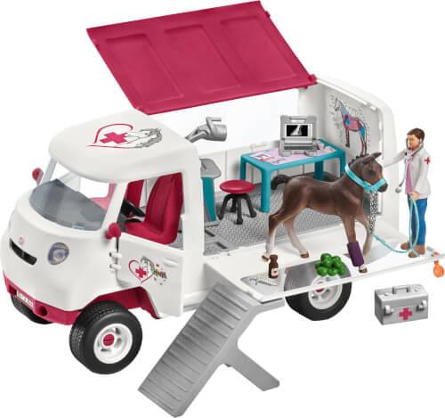 Schleich Horse Club 42370 Mobile Tierärztin mit Hannoveraner Fohlen