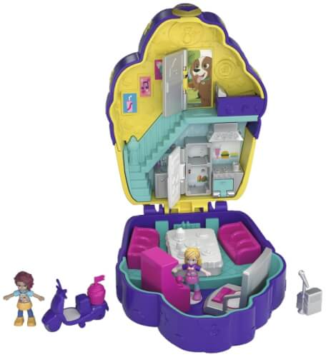Mattel FRY36 Polly Pocket Pocket World Café Schatulle
