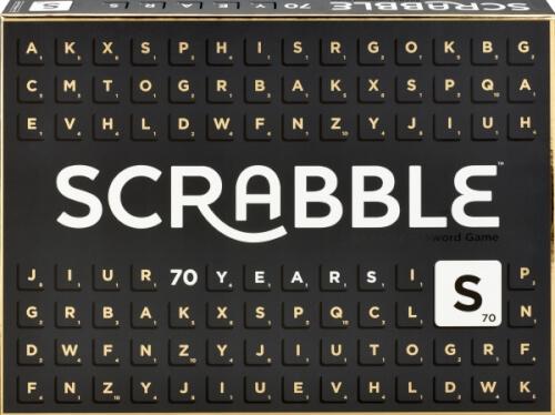 Mattel GCT19 Scrabble 70 Jahre Jubiläumsedition Familienspiel, 2 - 4 Spieler