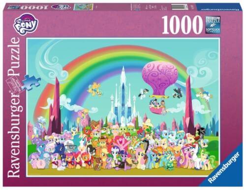 Ravensburger 198801 Puzzle: My little Pony unterm Regenbogen