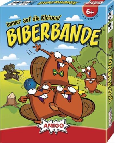 AMIGO 02920 Biberbande, Kartenspiel, für 2-6 Spieler, Spieldauer: ca. 20 Min, ab 6 Jahren