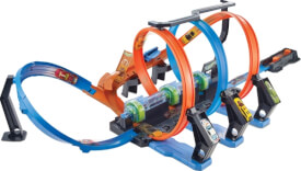 Mattel FTB65 Hot Wheels Korkenzieher-Crash Trackset