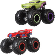 Mattel FYJ64 Hot Wheels Monster Trucks 1:64 Die-Cast 2er-Pack Sortiment