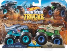 Mattel GJY43 Hot Wheels Monster Trucks 1:64 2er-Pack Mega Wrex vs Leopard Shark