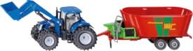 SIKU 1988 FARMER - New Holland mit Frontlader und Strautmann Futtermischwagen, 1:50, ab 3 Jahre