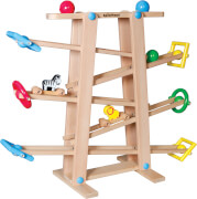 SpielMaus Holz Kugelbahn mit Rollelementen