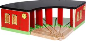 SpielMaus Holz Ringlokschuppen