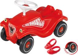 BIG Bobby-Car inkl. Flüsterräder und Schuhschoner, Kunststoff, rot, ab 12 Monate.