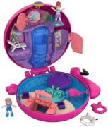 Mattel FRY38 Polly Pocket Pocket World Flamingo-Schwimmring Schatulle