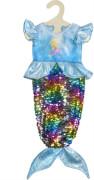Heless Kleid ''Meerjungfrau Ava'' mit Wendepailletten, Gr. 28-35 cm
