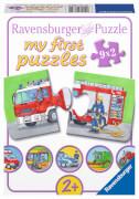 Ravensburger 07332 Puzzle Einsatzfahrzeuge 2, 4, 6, 8 Teile