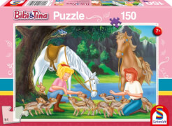 Schmidt Puzzle 56050 Bibi und Tina, Am Steinbruch, 150 Teile, ab 7 Jahre