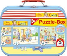 Schmidt Spiele Puzzle Im Metallkoffer Meine Freundin Conni 2x26, 2x48 Teile im Metallkoffer