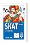 Ravensburger 270026 Klassisches Skat, Französisches Bild, 32 Karten Faltschachtel, Kartenspiel