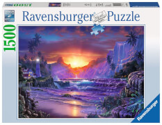 Ravensburger 163595 Puzzle: Sonnenaufgang im Paradies 1500 Teile