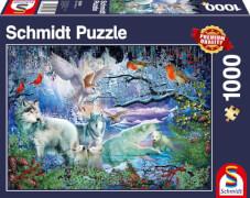 Schmidt Spiele Puzzle Wölfe im Winterwald, 1000 Teile
