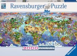 Ravensburger 166985 Puzzle Wunder der Welt 2000 Teile