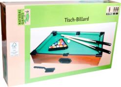 Natural Games Tischbillard, aus 100% FSC Holz, Länge 51 cm,Geschicklichkeitsspiel, ca. 53x32,5x10 cm, für 2 Spieler, ab 5 Jahren