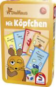 Schmidt Spiele 51255 Die Maus, Mit Köpfchen, Bring-Mich-Mit-Spiel in    Metalldose, 2 bis 6 Spieler, ab 7 Jahre