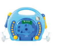 Karaoke CD Player MP3 2 Mikrofone boy/blau