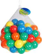 Outdoor active Bälle für Bällebad, 70 Stück im Netz, in den Farben gelb, orange, grün, blau und rot, Outdoorspielzeug, # ca. 6 c