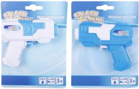 Splash & Fun Wasserpistole blau/weiß, sortiert, 11 cm
