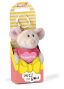 NICI Schlüsselanhänger Maus Traumfrau 10cm mit T-Shirt pink