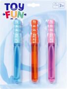 Toy Fun Seifenblasen Stab 3er Set, mini