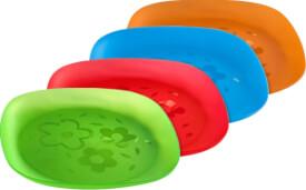 Freizeit-Teller, farblich sortiert