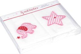 Die Spiegelburg 14056 BabyGlück - Spucktücher Elefant (2 St.), rosa