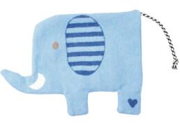Die Spiegelburg 15287 BabyGlück - Wärmekissen Elefant, ca. 19x29 cm, waschbar, hellblau