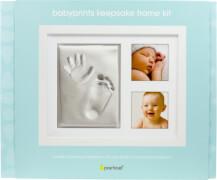 Babyprints Erinnerungsrahmen für 2 Fotos und Hand- und Fußabdruck