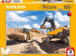 Schmidt Puzzle 56287 Baufahrzeuge Volvo L120GZ, A40F, EC750D, 150 Teile, ab 7 Jahre